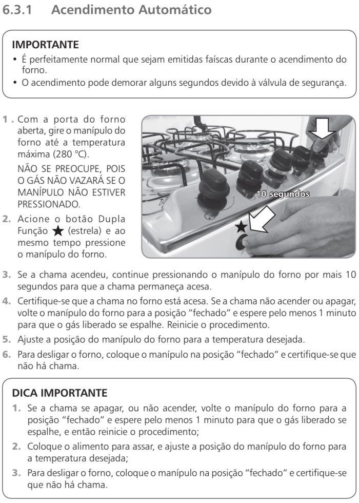 Fogão Brastemp id5 - como usar forno 2
