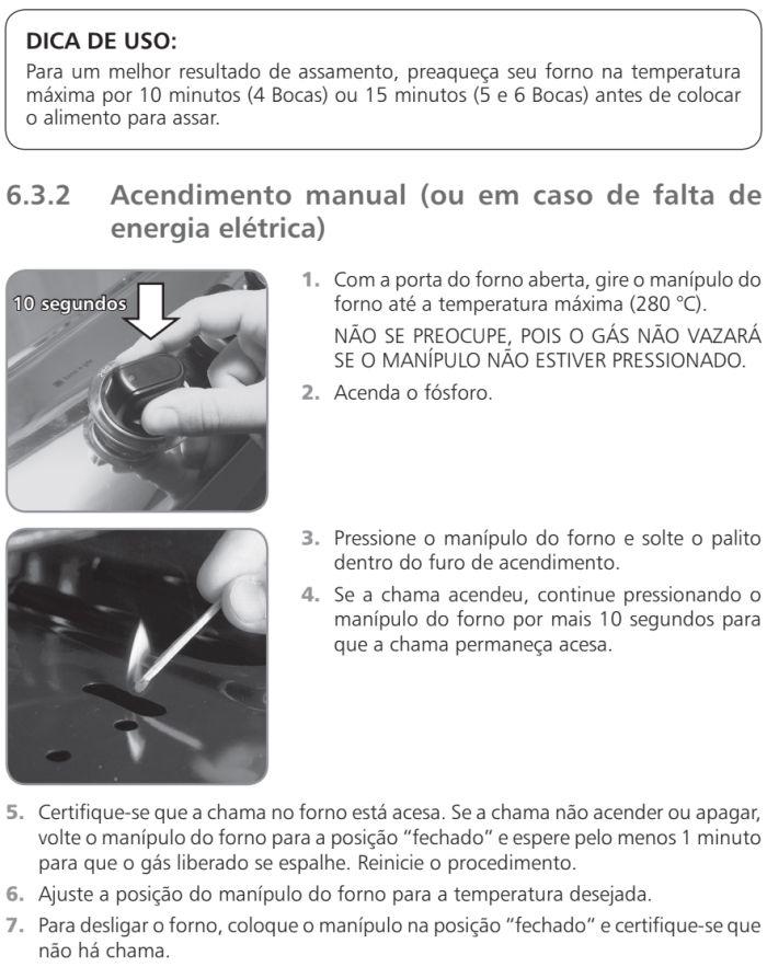 Fogão Brastemp id5 - como usar forno 3