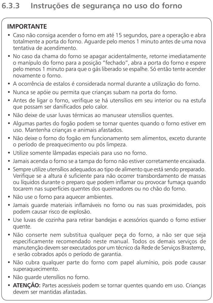 Fogão Brastemp id5 - como usar forno 4
