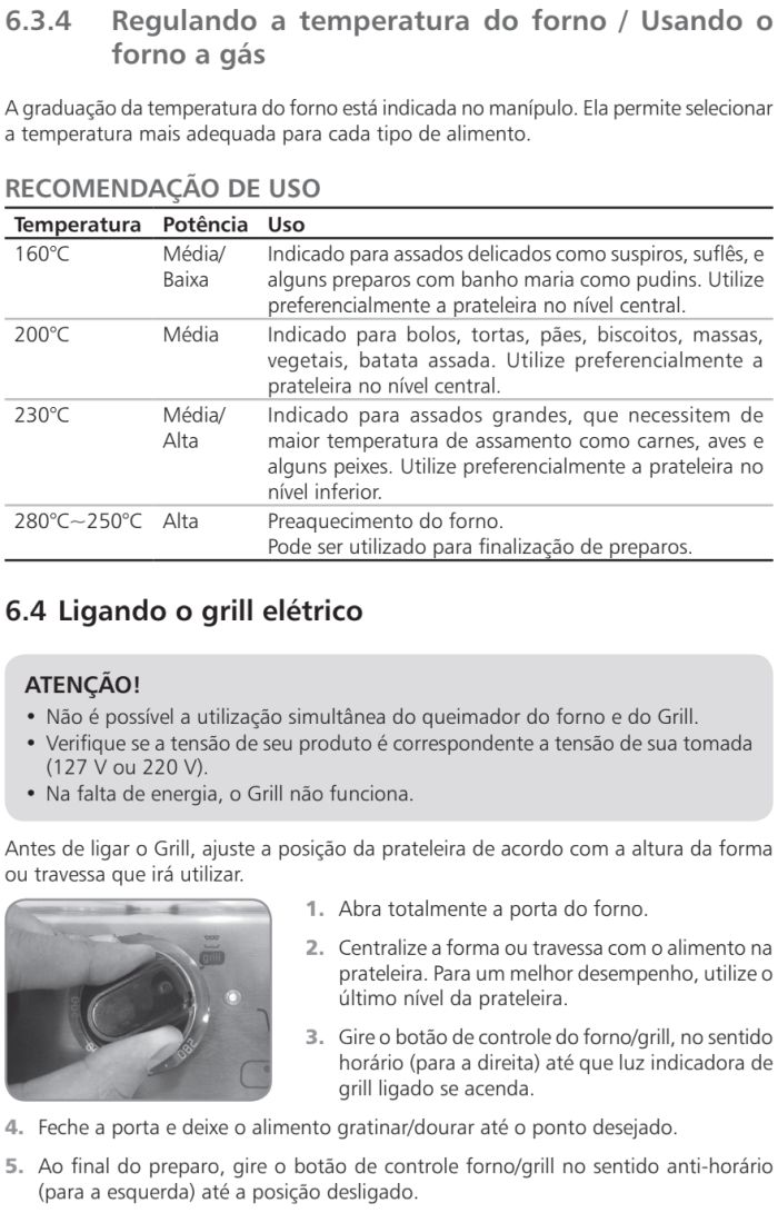 Fogão Brastemp id5 - como usar forno 5