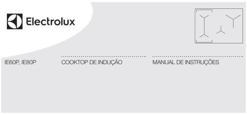 Cooktop de indução Electrolux - capa manual