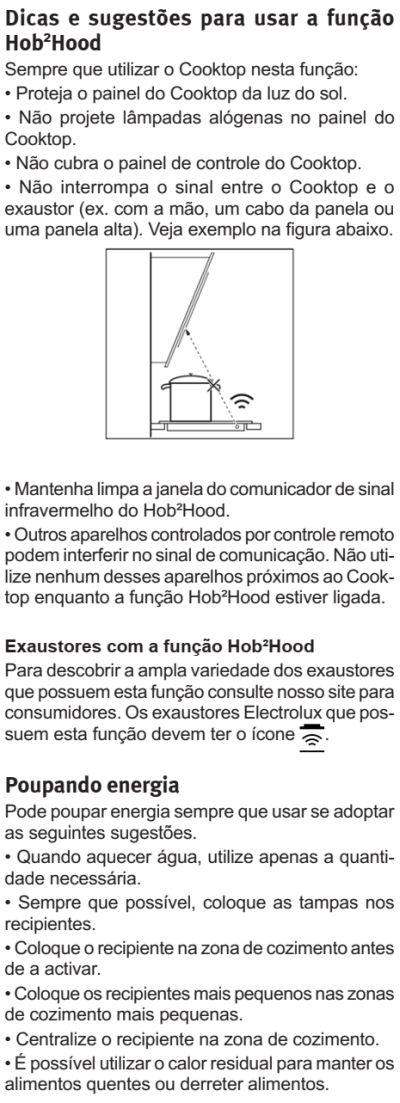 Cooktop de indução Electrolux - IE80P - usando cooktop de indução 20