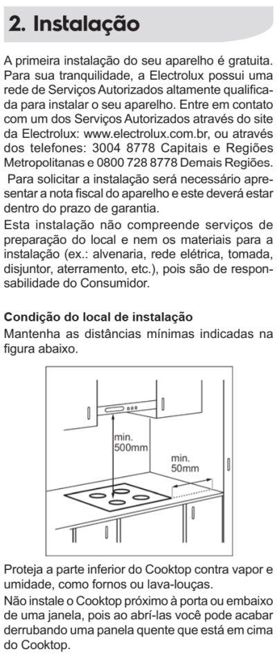 Cooktop de indução Electrolux - IE80P - instalando produto 1