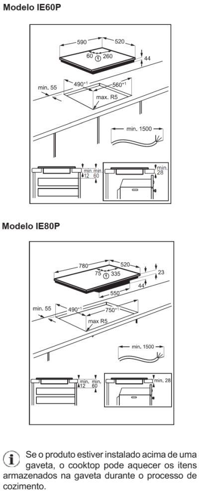 Cooktop de indução Electrolux - IE80P - instalando produto 2