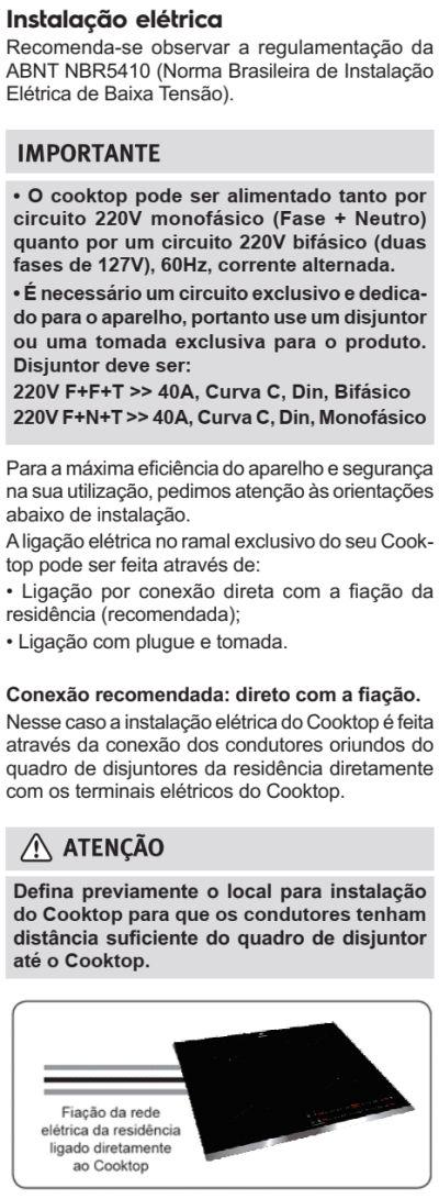 Cooktop de indução Electrolux - IE80P - instalando produto 3