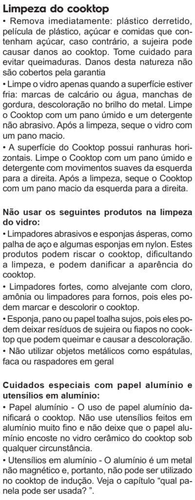 Cooktop de indução Electrolux - IE80P - limpando produto 2