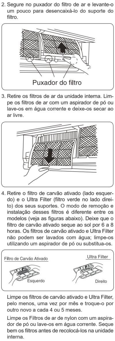 Ar condicionado Electrolux vi-ve - como limpar 2