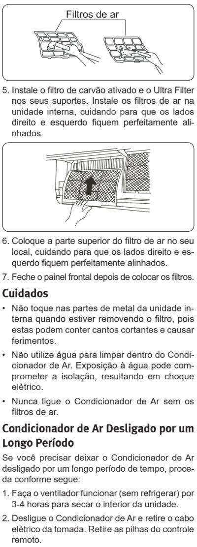 Ar condicionado Electrolux vi-ve - como limpar 3