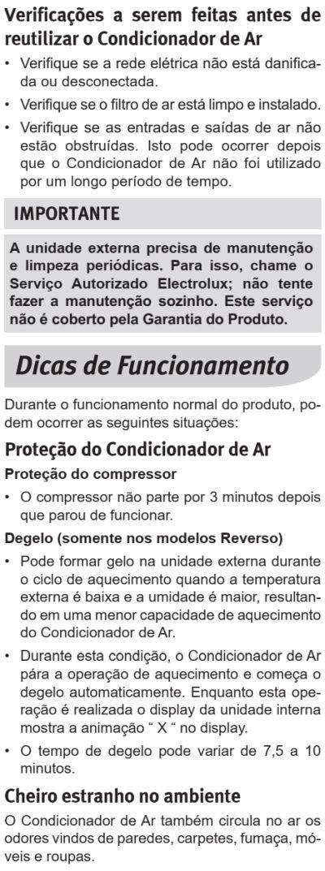 Ar condicionado Electrolux vi-ve - como limpar 4