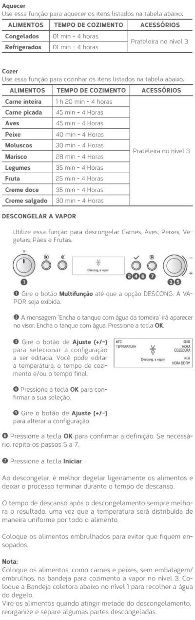Forno elétrico Brastemp BOD45 - usando produto 10