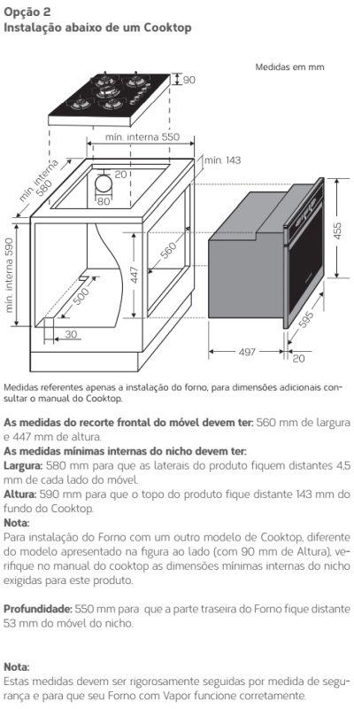 Forno elétrico Brastemp BOD45 - instalando produto 3
