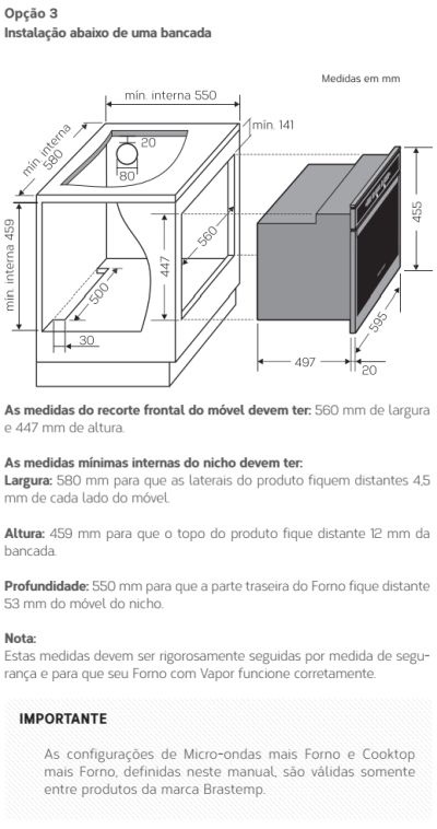 Forno elétrico Brastemp BOD45 - instalando produto 4