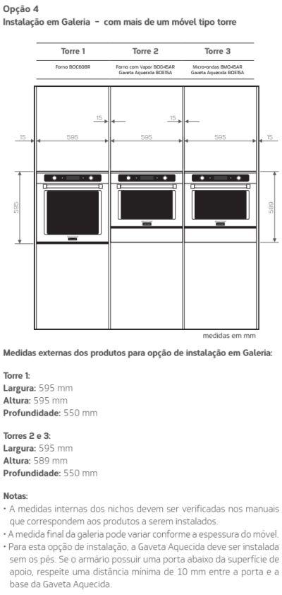 Forno elétrico Brastemp BOD45 - instalando produto 5