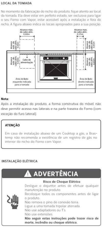 Forno elétrico Brastemp BOD45 - instalando produto 6