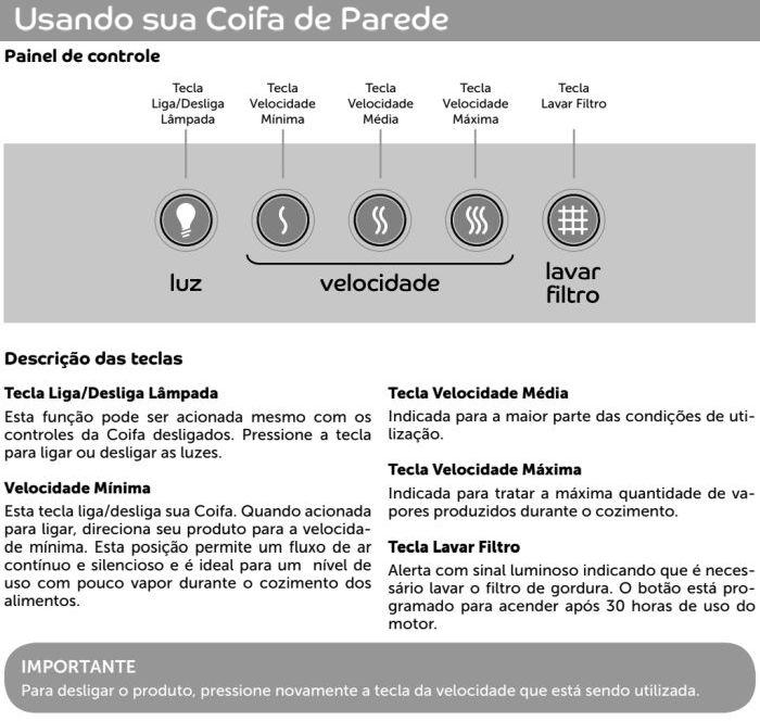 Coifa Consul id1 - usando produto 1