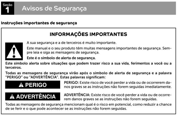 Coifa Consul id1 - instruções de segurança 1