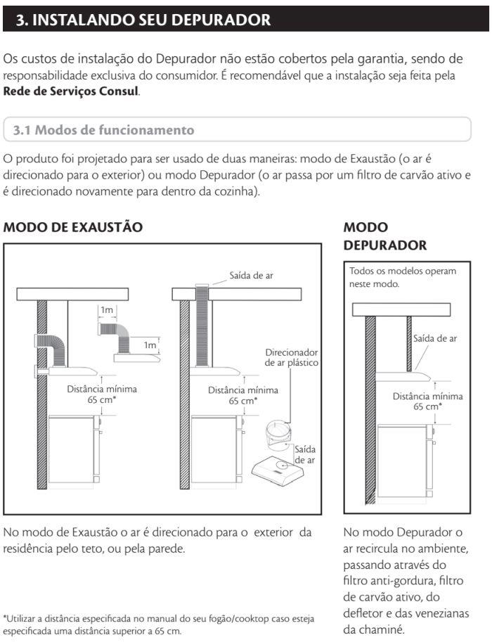 Depurador de ar Consul id3 - instalando produto 1