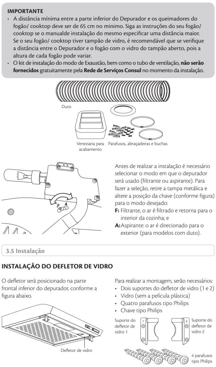 Depurador de ar Consul id3 - instalando produto 5