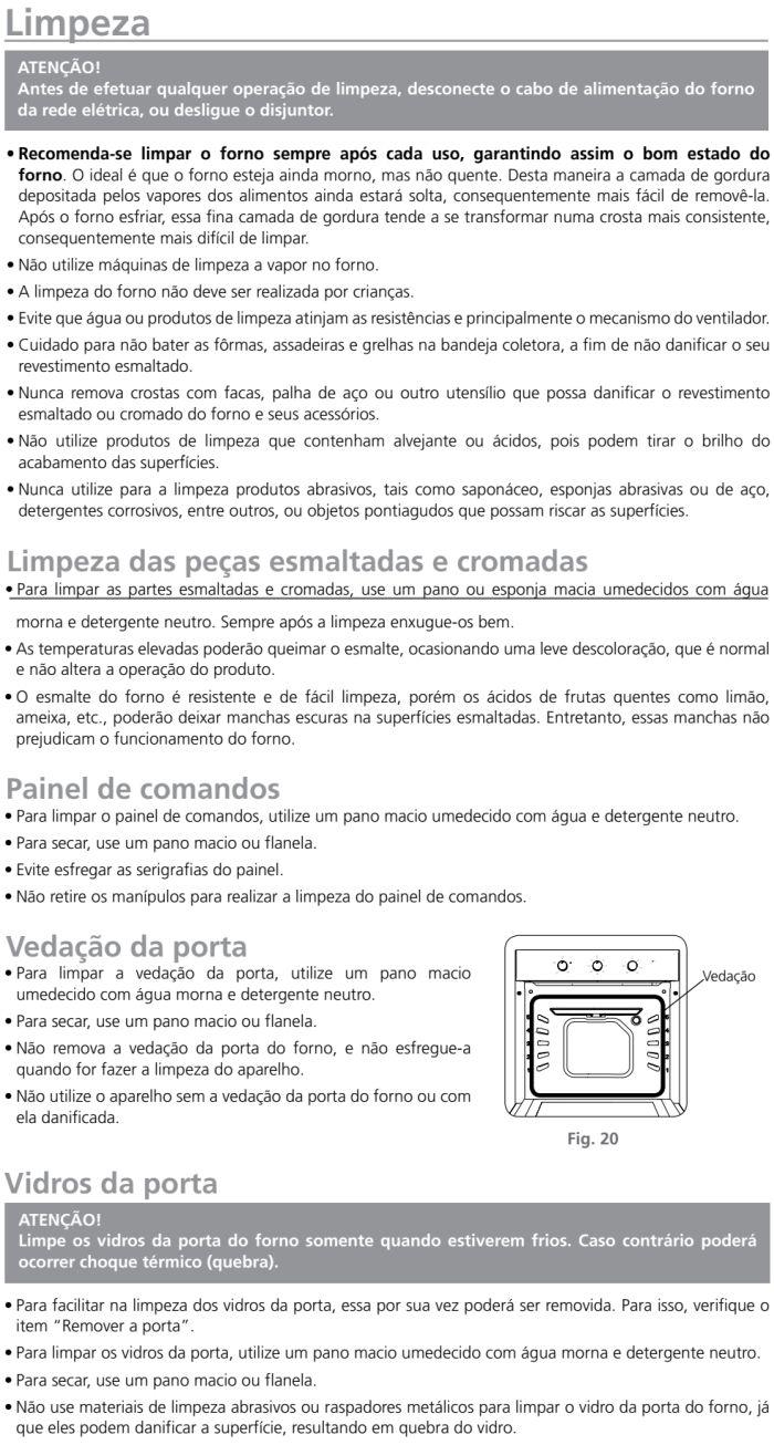 Forno elétrico Tramontina 94868 - como limpar - 1