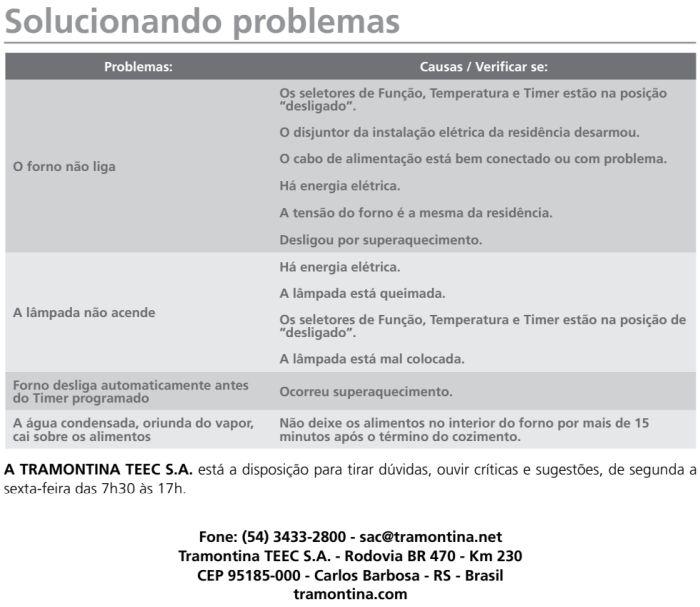 Forno elétrico Tramontina 94868 - como limpar - 3
