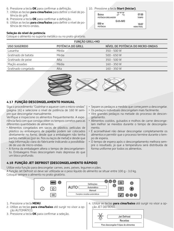 Microondas Brastemp - bmo40 -  como usar 10
