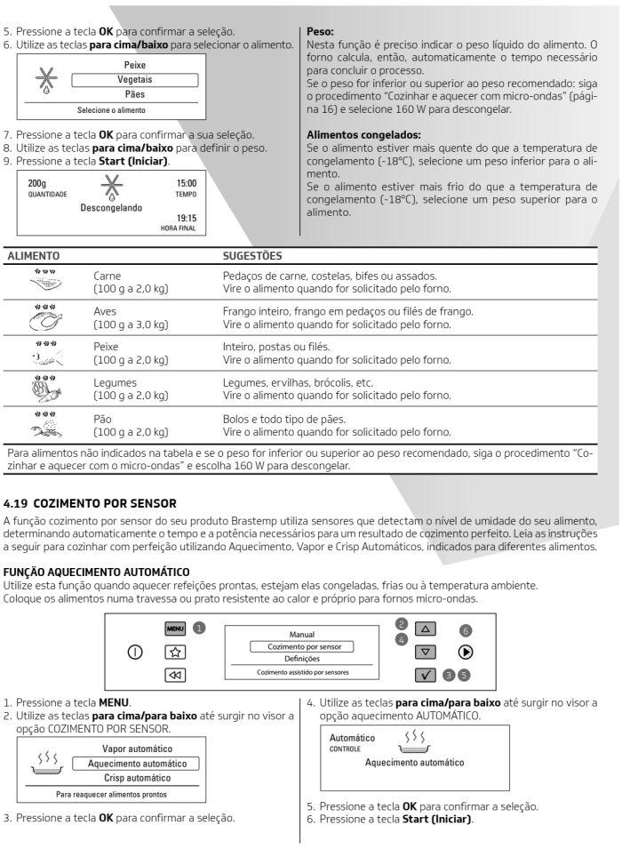 Microondas Brastemp - bmo40 -  como usar 11