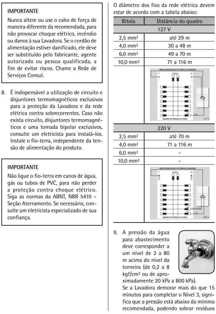 Lavadora de roupas Consul  - CWK12 - instalação - 2