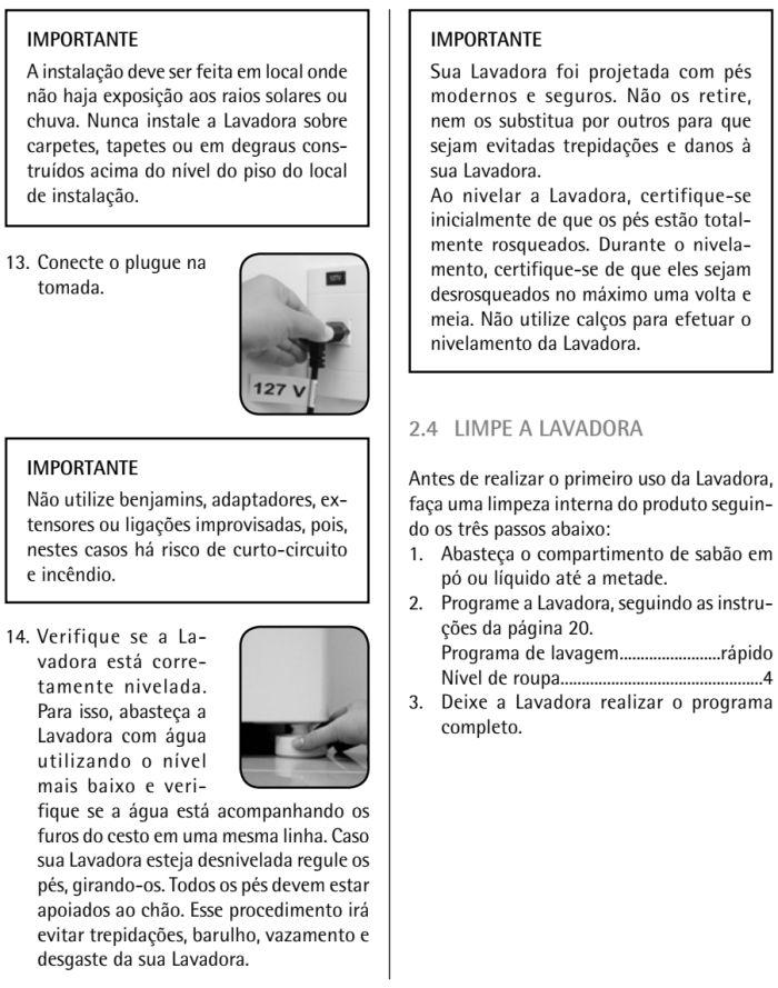 Lavadora de roupas Consul  - CWK12 - instalação - 4