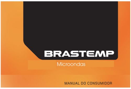 Microondas Brastemp - capa manual