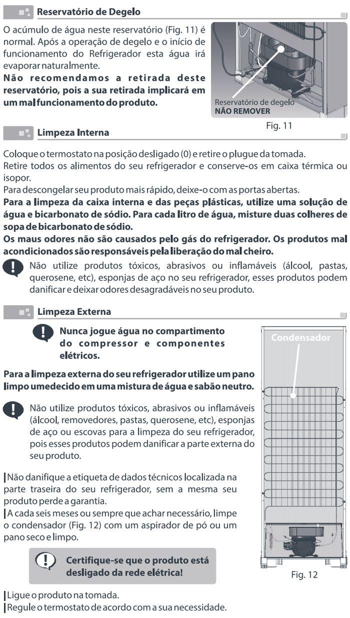 Geladeira Esmaltec - RCD34 e RCD38 - como limpar 2