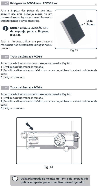 Geladeira Esmaltec - RCD34 e RCD38 - como limpar 3