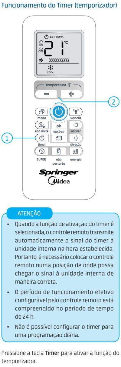 Ar condicionado Springer Midea AirVolution Inverter - como usar 7