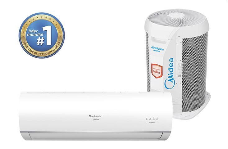 Solução de problemas do ar condicionado Springer Midea AirVolution Inverter.