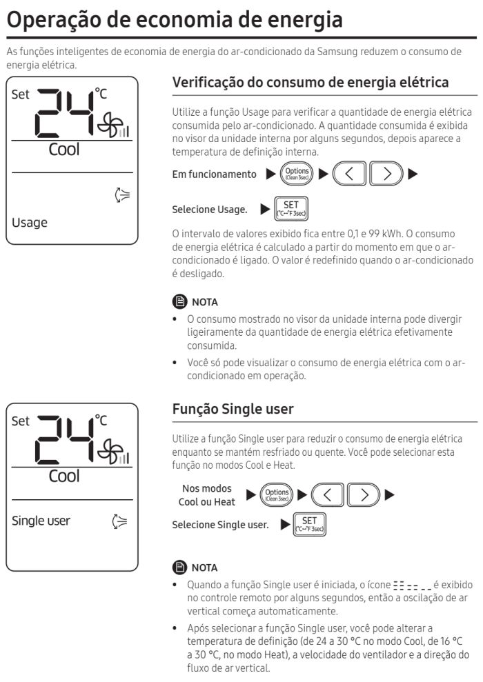 Ar condicionado split Samsung Inverter Wind Free AR**NSPX*** - conhecendo produto 10