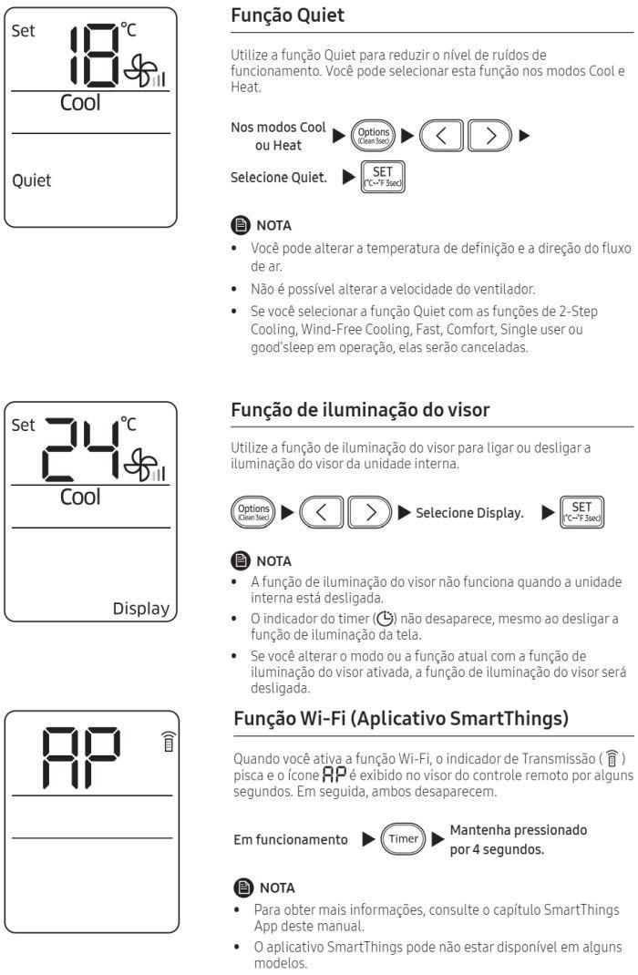 Ar condicionado split Samsung Inverter Wind Free AR**NSPX*** - como usar 9