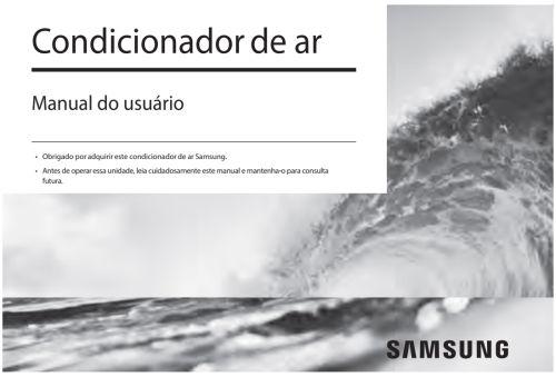 Ar condicionado Samsung - capa manual