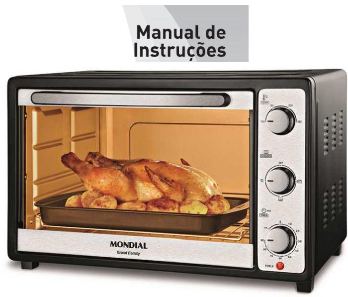 Forno elétrico Mondial - manual de instruções