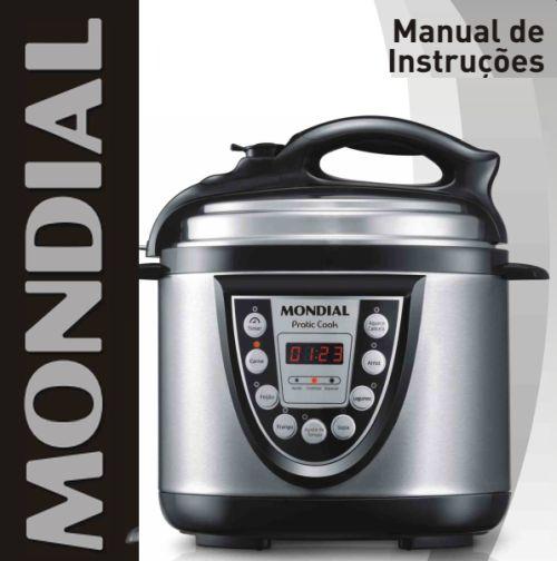 Panela pressão elétrica Mondial - manual de instruções