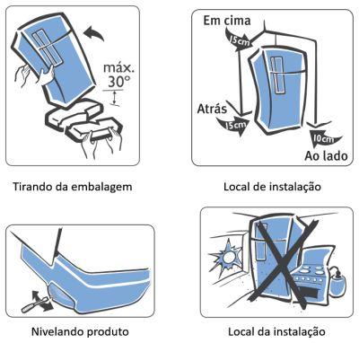 Geladeira Electrolux - DF80 - como instalar 1
