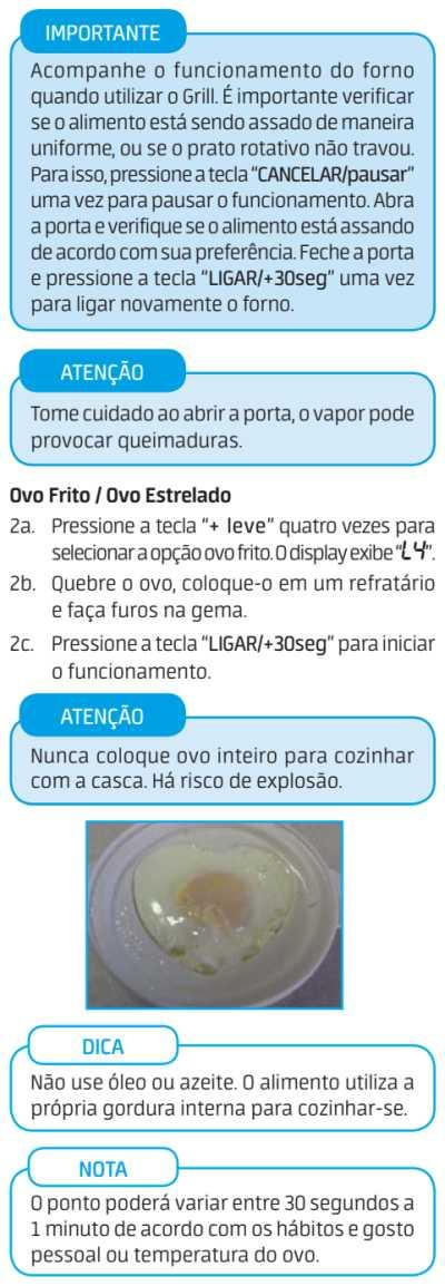 Micro-ondas Midea MTA*** - menu saúde - 6