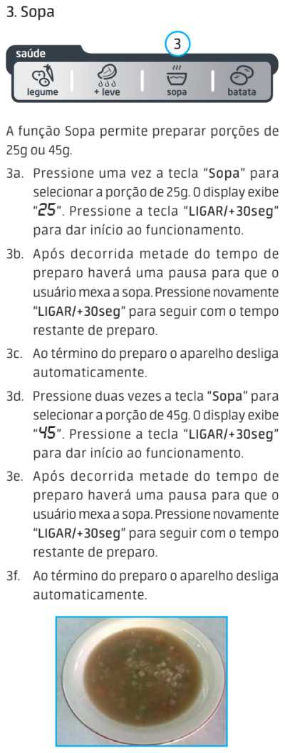 Micro-ondas Midea MTA*** - menu saúde - 7
