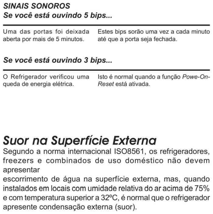 Geladeira Electrolux ss77x - solução de problemas 8