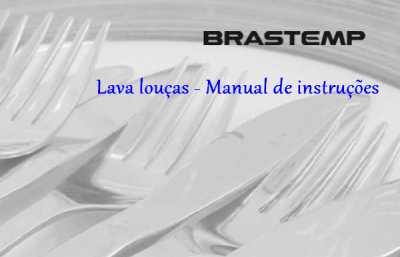 Lava Louças Brastemp - capa manual
