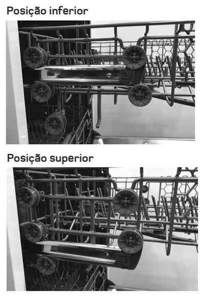Lava louças Brastemp BLF10B* - como usar - ajuste de altura do cesto intermediário