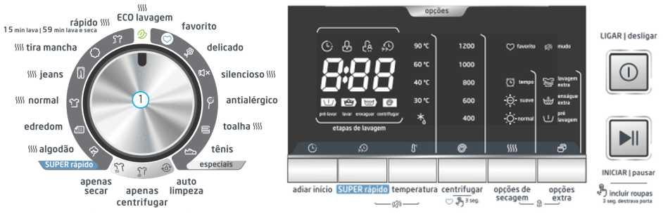 Lava e seca Midea - LSE12X - como usar